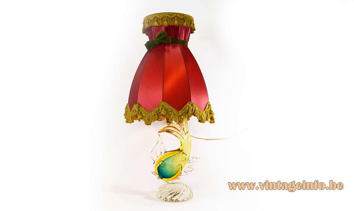 Artistica Murano Fish Table Lamp
