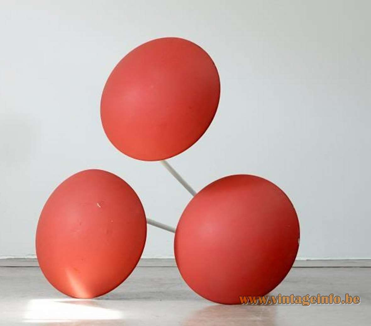 BEGA Garden Lamps Expo 58 Brussels red white metal 1950s 1960s Germany mushroom outdoor iron