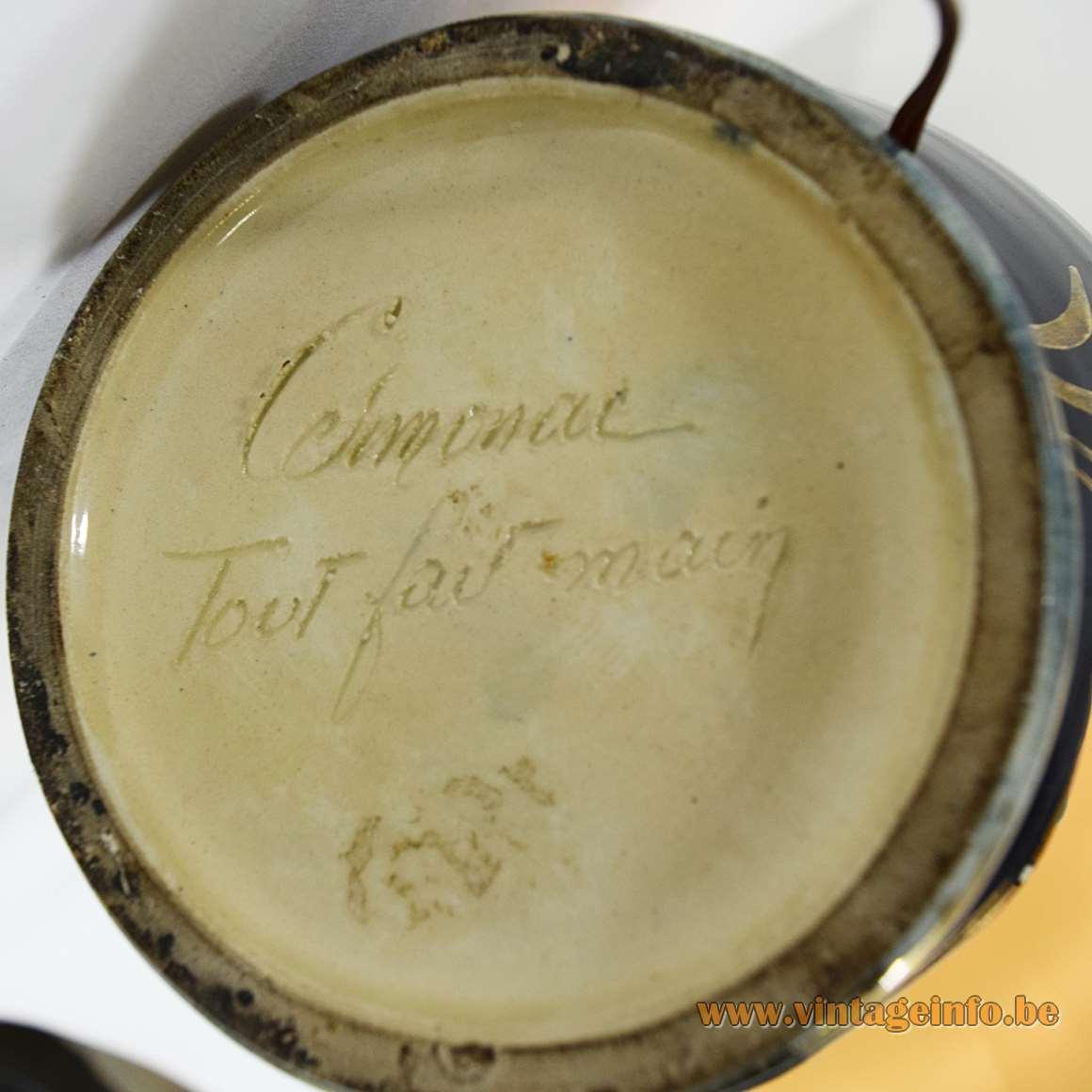 "Cermonac Monaco Table Lamp - Tout fait main - ""All by hand"""