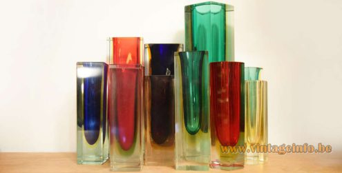 Collection of sommerso vases