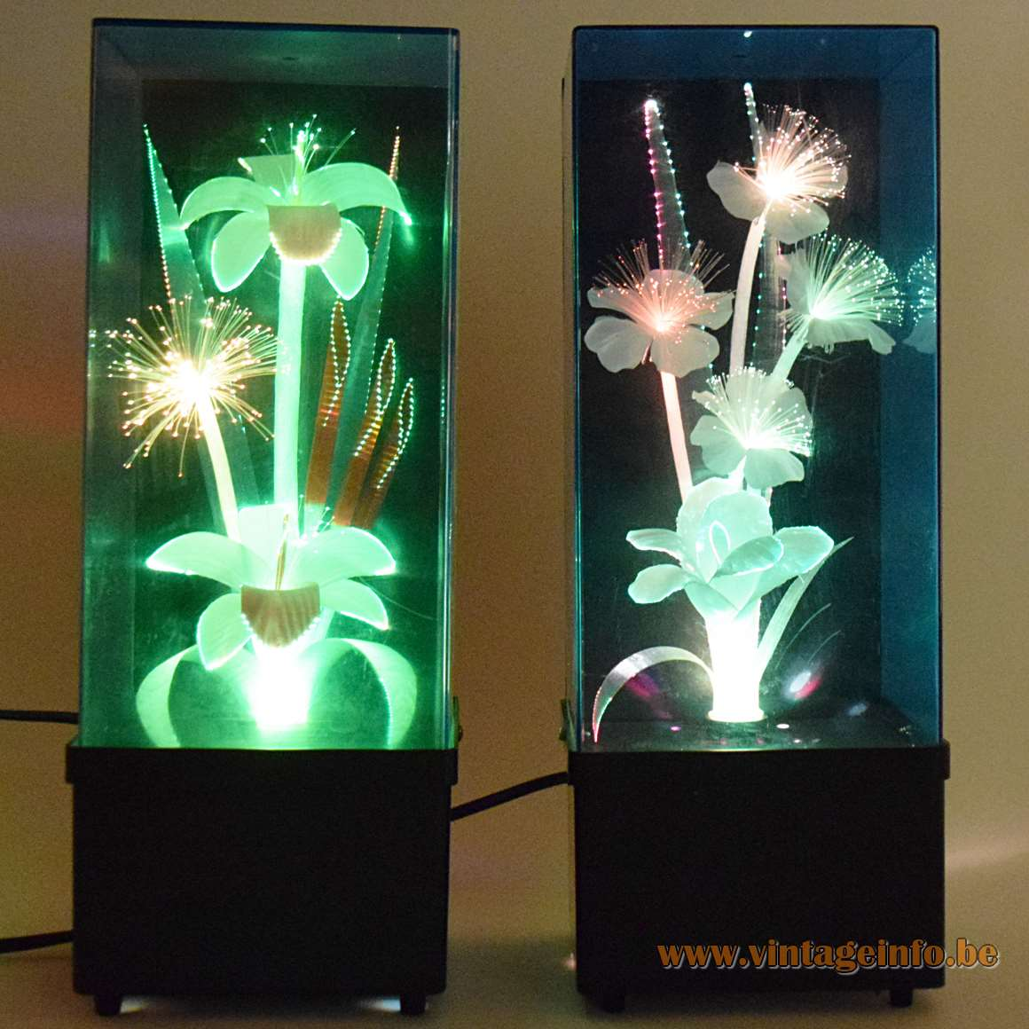 Fiberglass Flower Kitsch Table Lamps