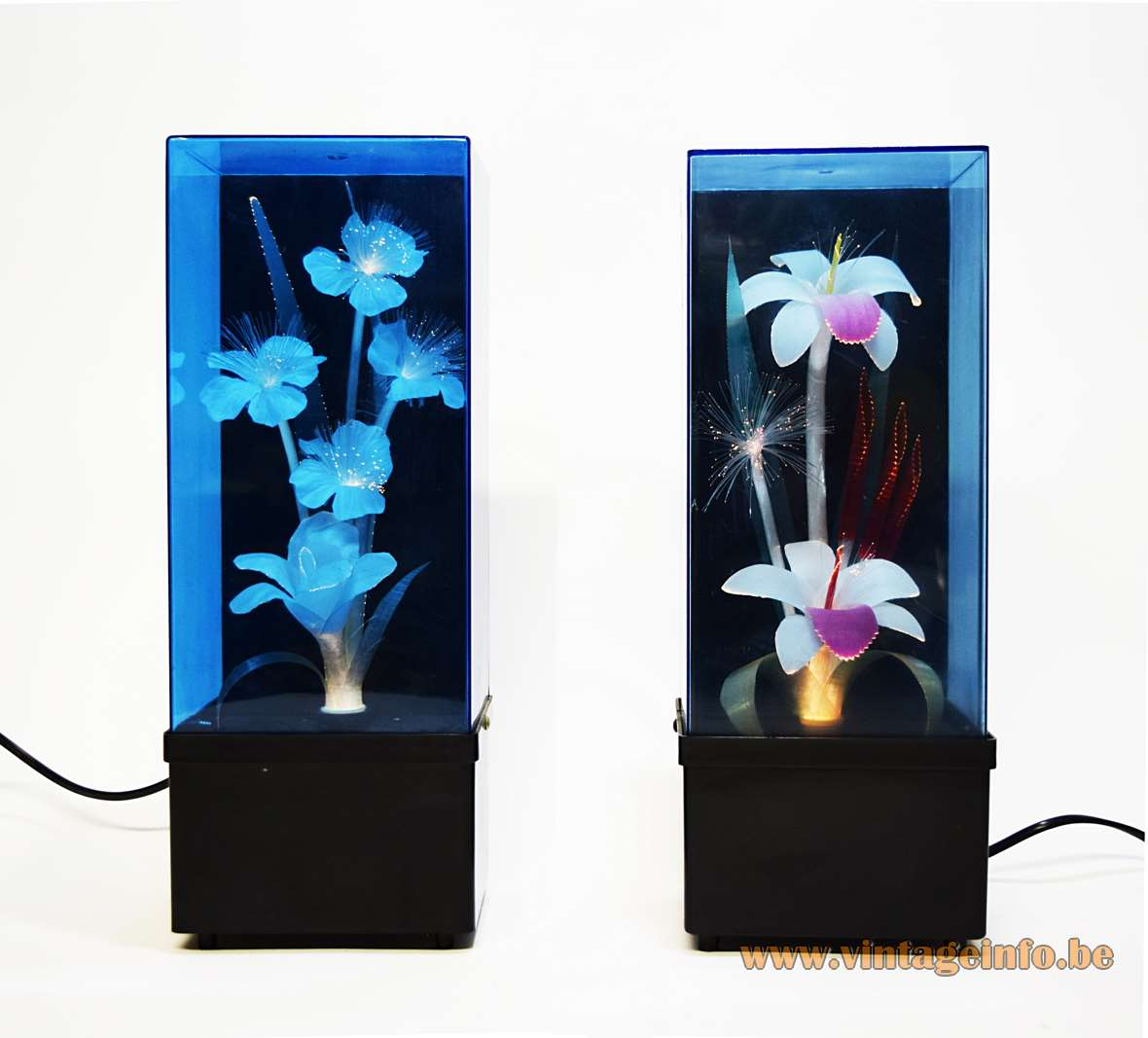 Fibreglass Flower Kitsch Table Lamps