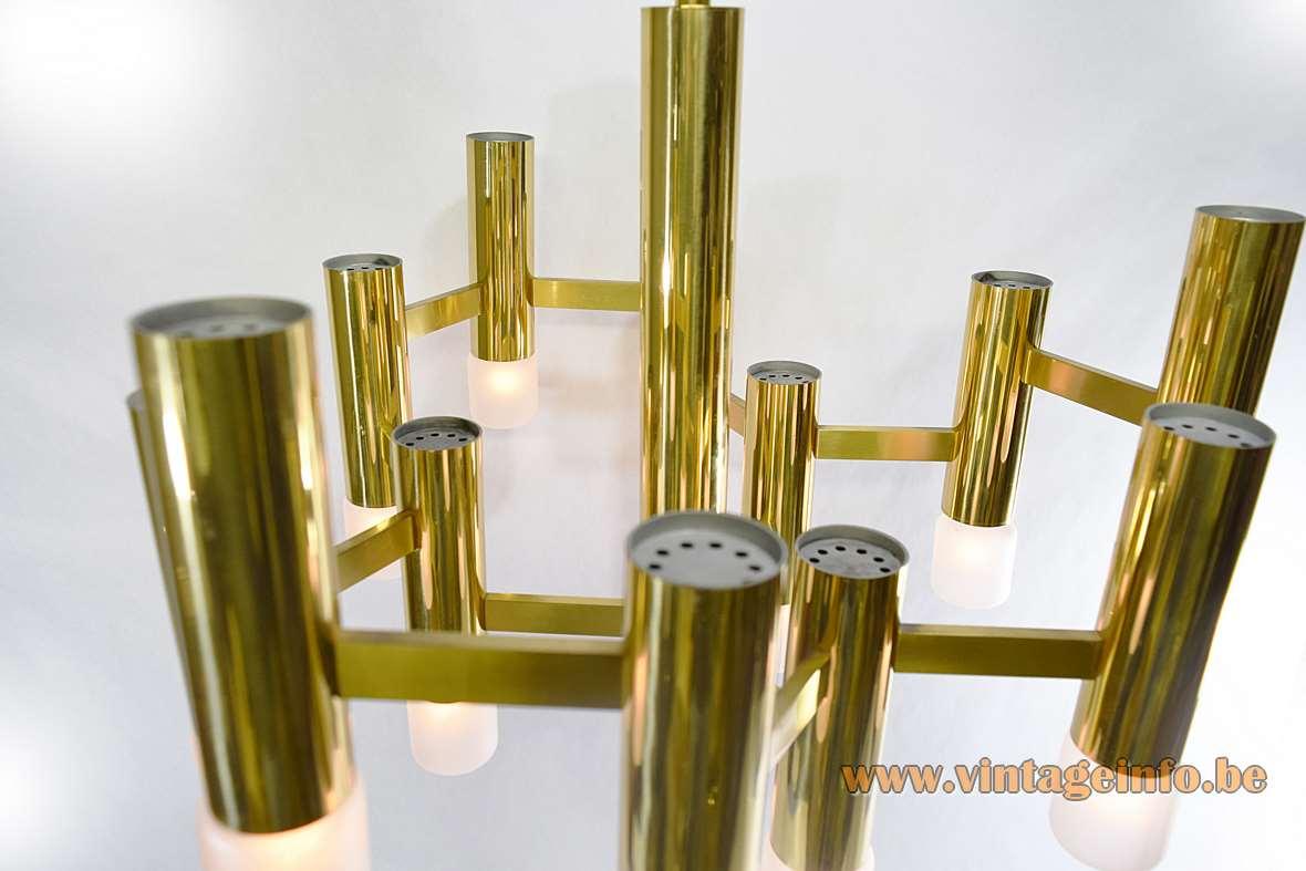 Gaetano Sciolari Brass Chandelier