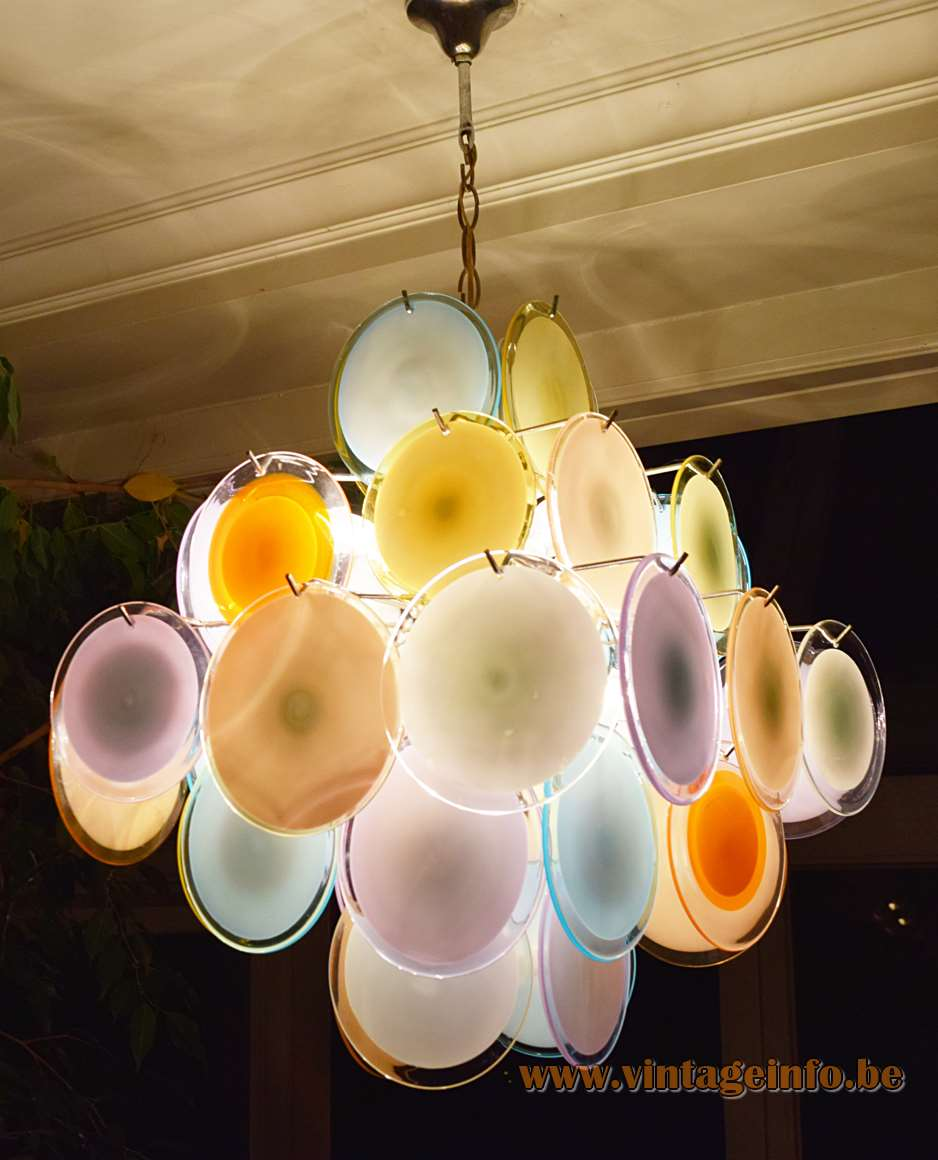 Gino vistosi multicoloured discs chandelier vintage info all links external links open in a new window aloadofball Image collections