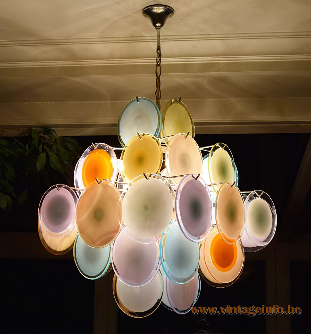 Gino vistosi multicoloured discs chandelier vintage info all gino vistosi multicoloured discs chandelier aloadofball Choice Image