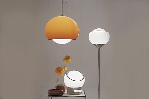 Harvey Guzzini Bud Grande, Flash and Clan Floor Light in the catalogue