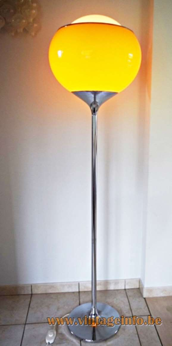 Harvey Guzzini Flash Floor Light - Yellow/orange version