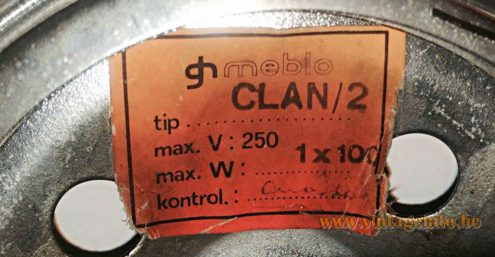 Harvey Guzzini Meblo Clan label