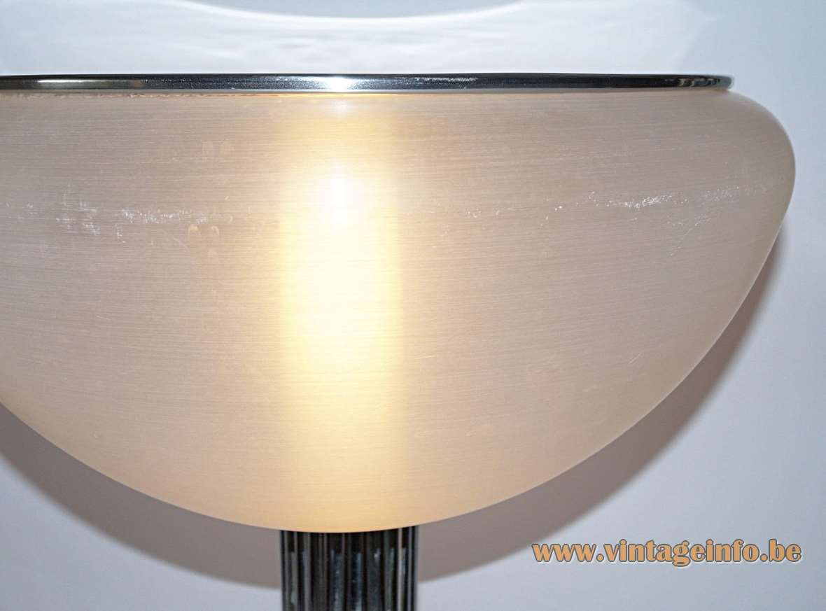 Harvey Guzzini Moana Table Lamp, Design: Luigi Massoni, 1968, 1960s, 1970s, acrylic, chrome, Meblo, Harveiluce