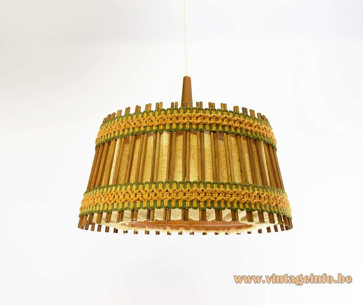 Jute and Teak Pendant Lamp