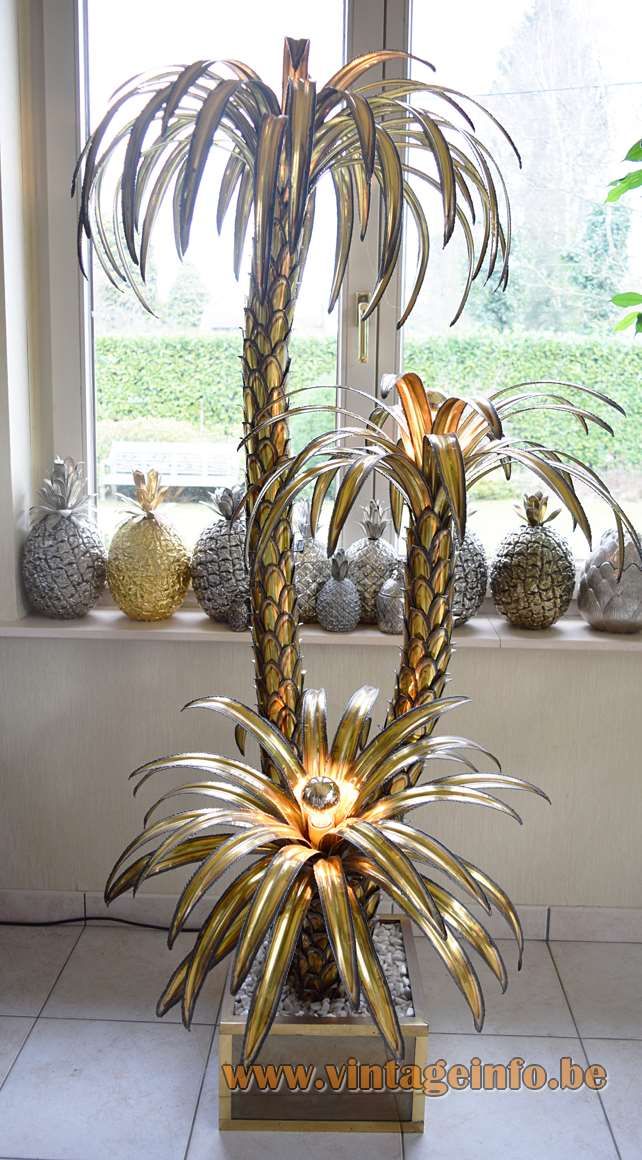 Maison Jansen Palm Trees Floor Lamp Vintage Info All