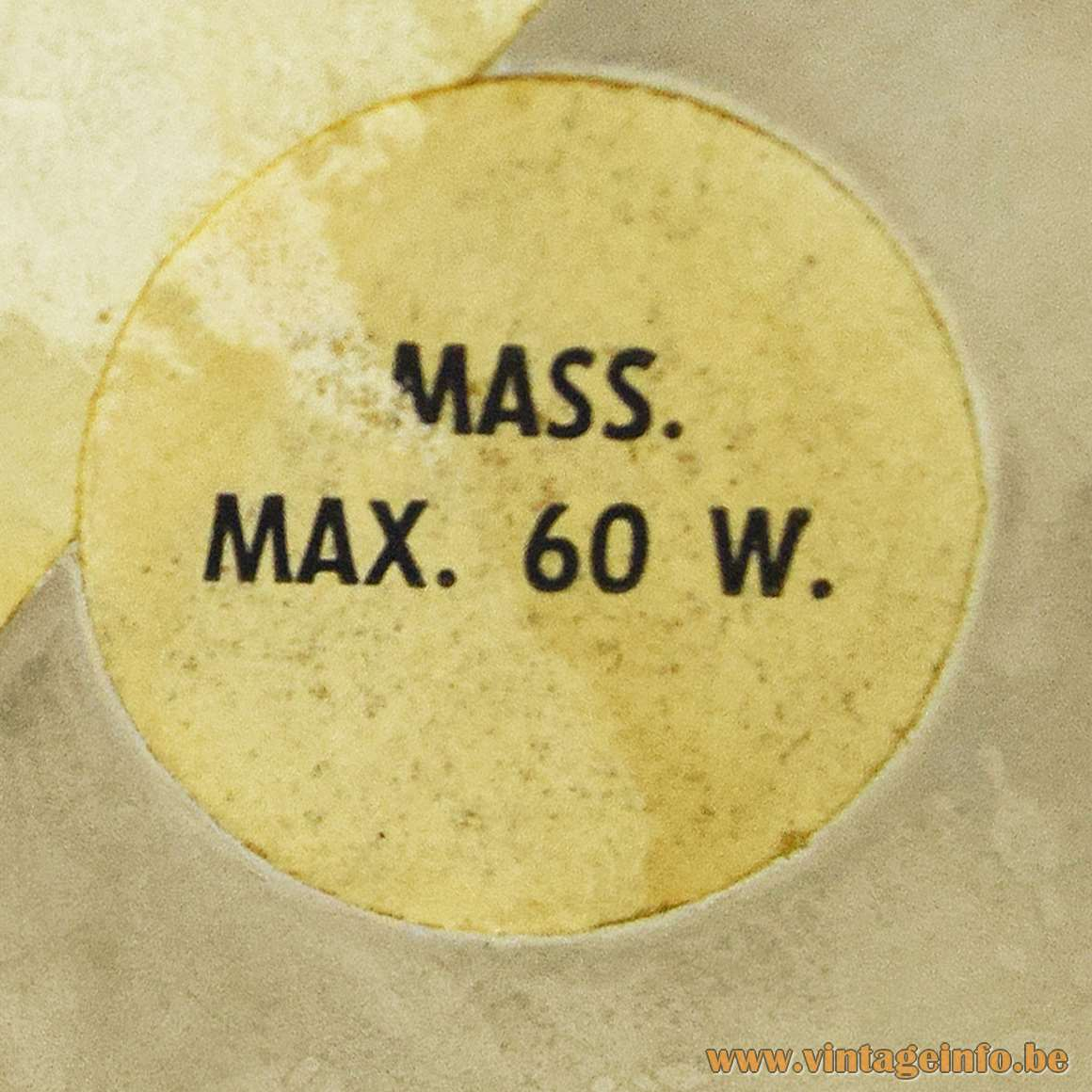 Massive Lighting 1970s Label