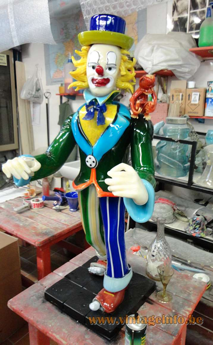 Murano clown made by Pino Signoretto in 2014