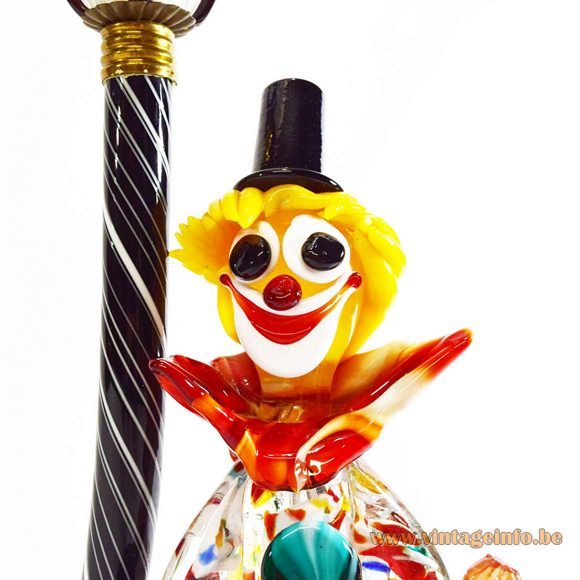 Murano Drunk Clown Table Lamp
