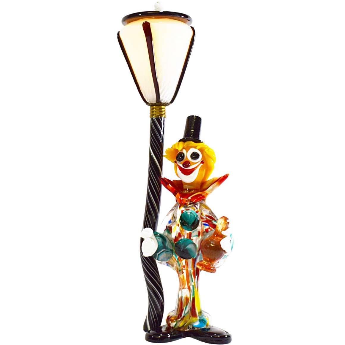 Murano Chandelier Wiki: Murano Drunk Clown Table Lamp –Vintage Info