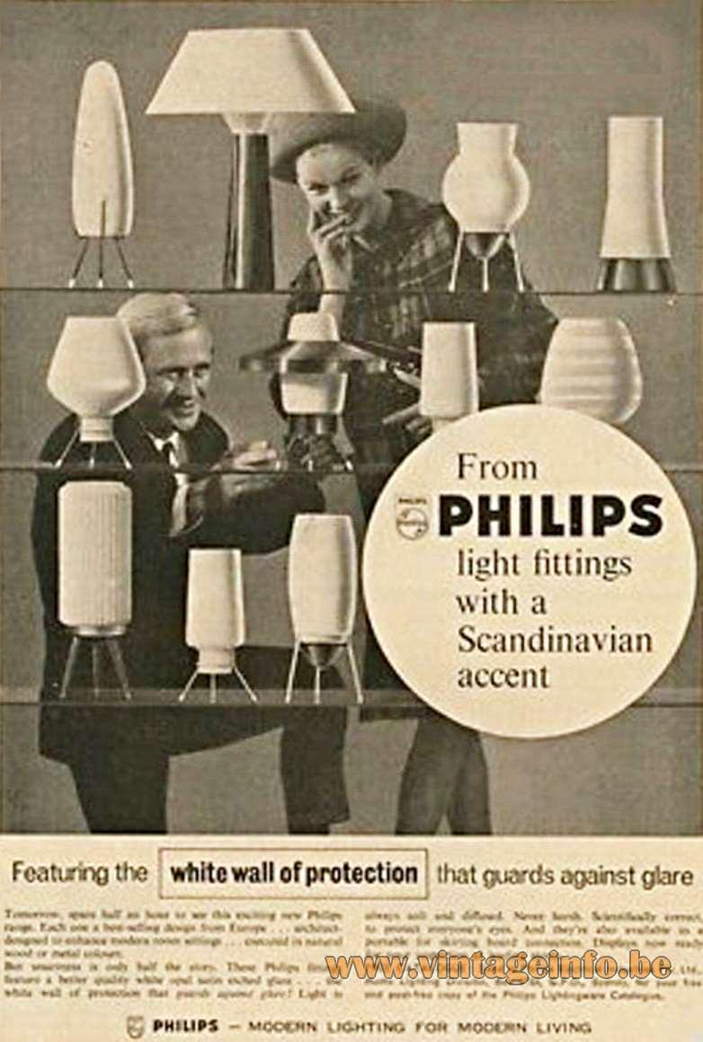 Philips 1950s Scandinavian Lights Publicity