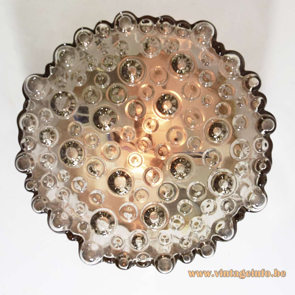 Staff Bubble Glass Flush Mount Or Wall Lamp