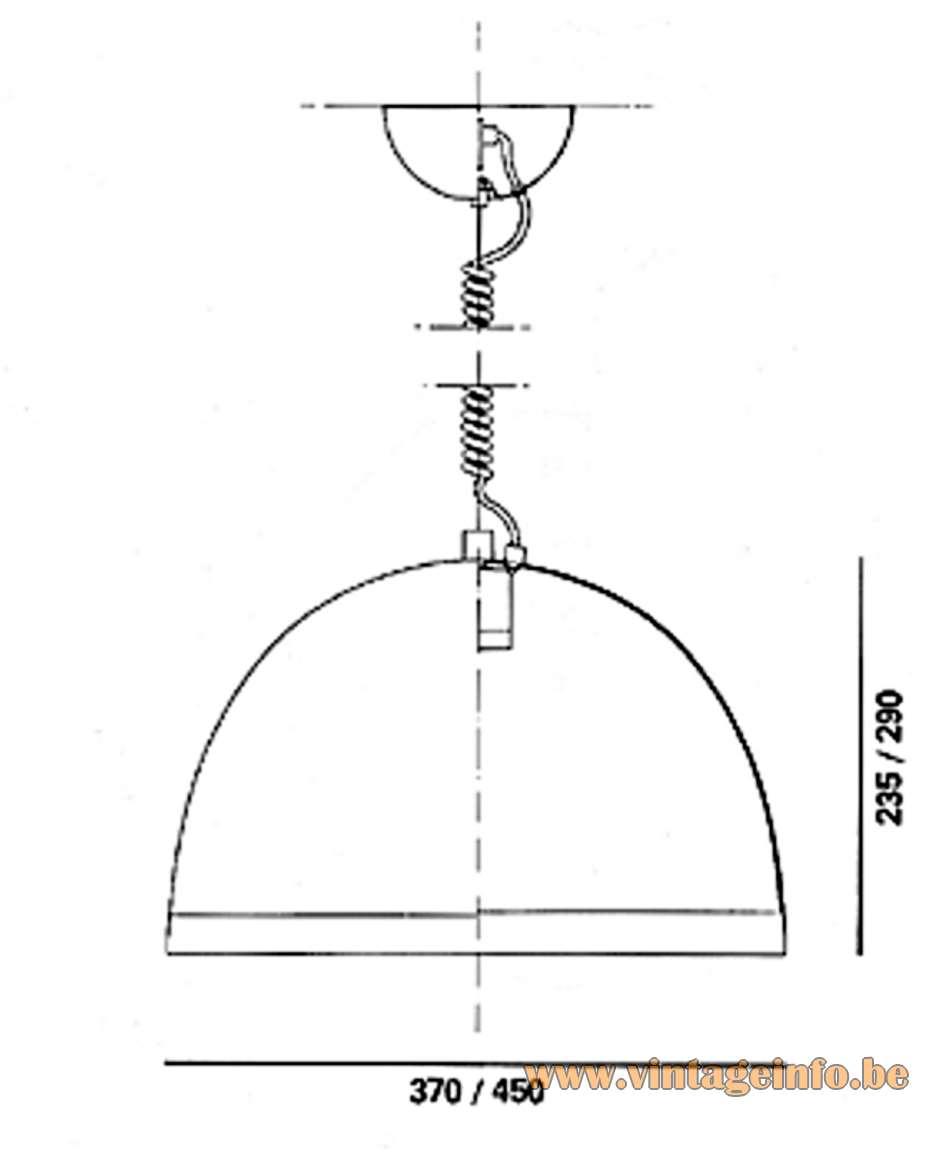 iGuzzini Baobab Pendant Light scheme