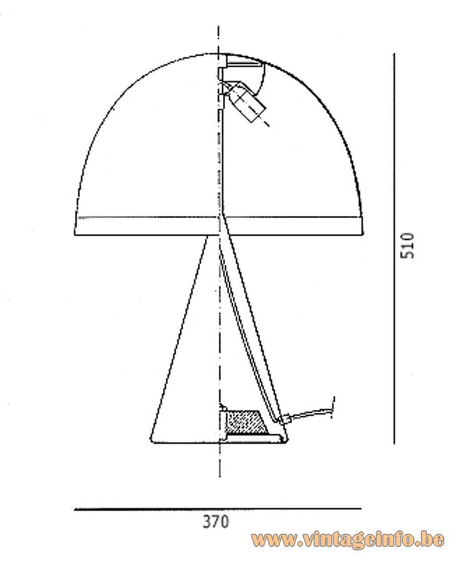 iGuzzini Baobab Table Lamp 4048 scheme