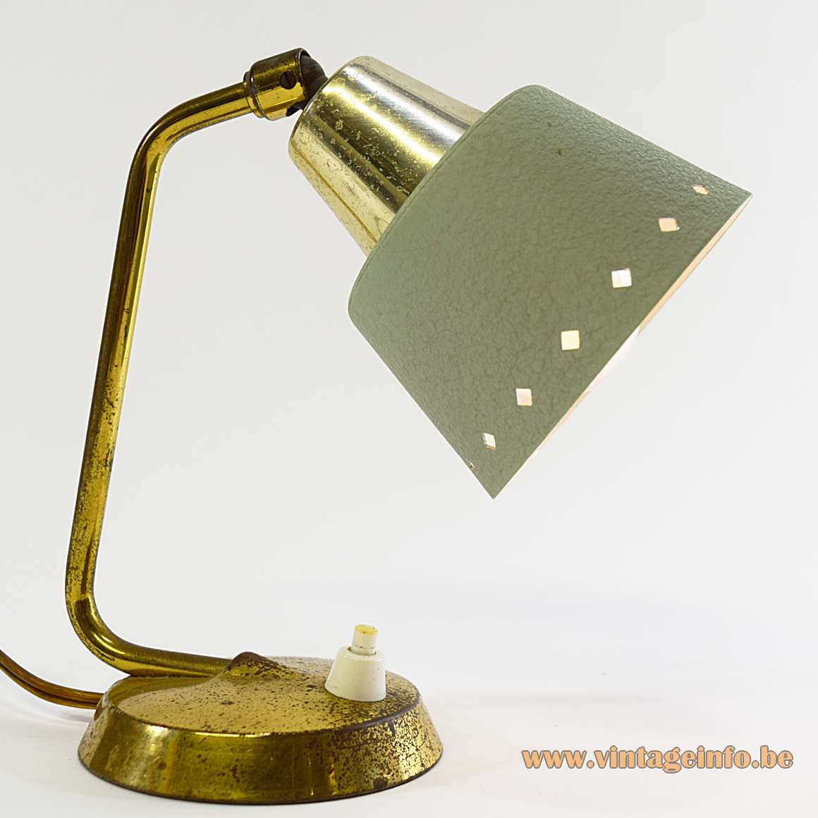 1950s Perforated Bedside Lamp