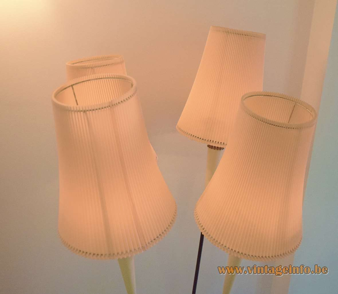 1950s Italian Celluloid Floor Lamp