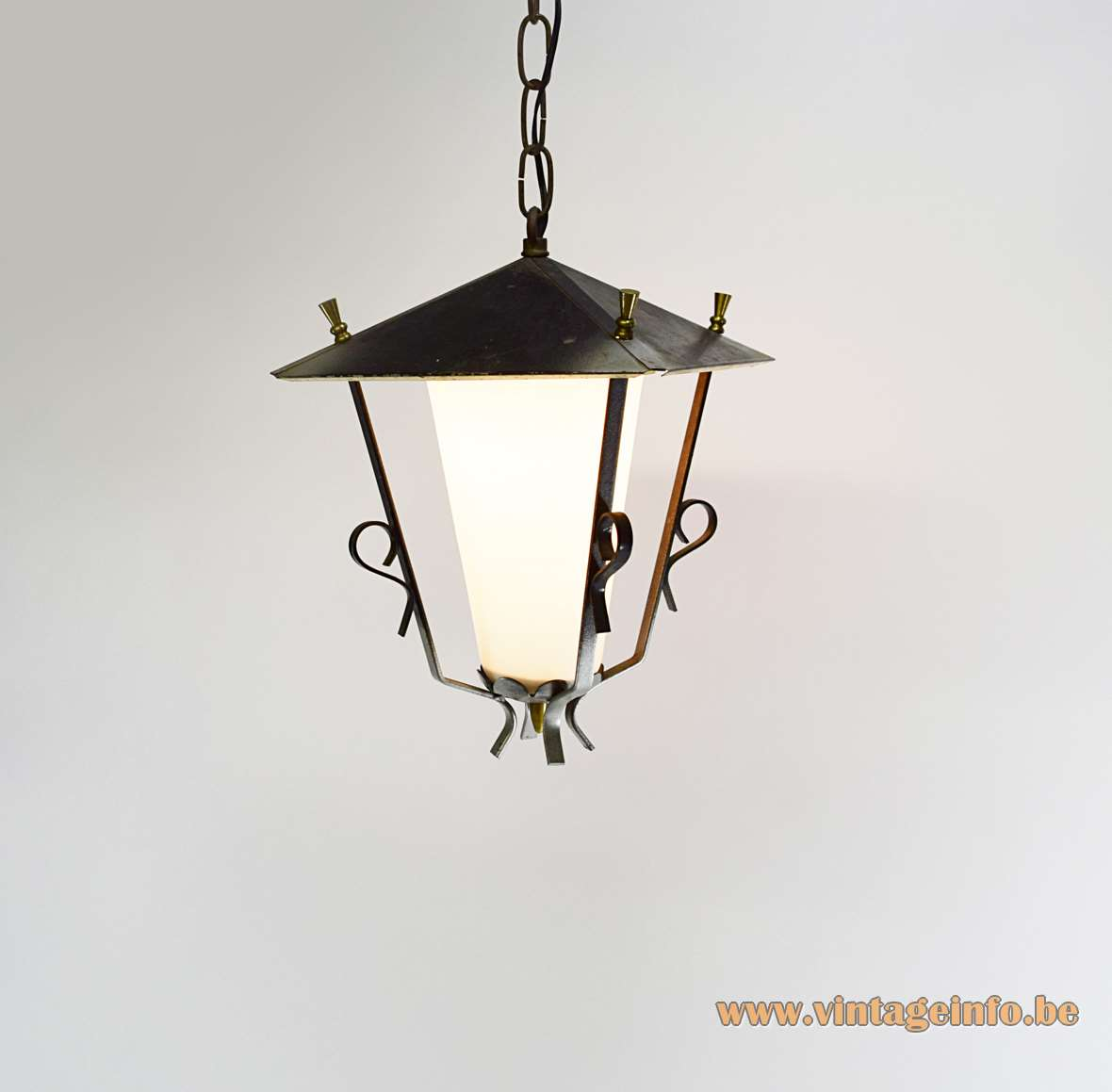 1950s Lantern Pendant Light Vintage Info All About