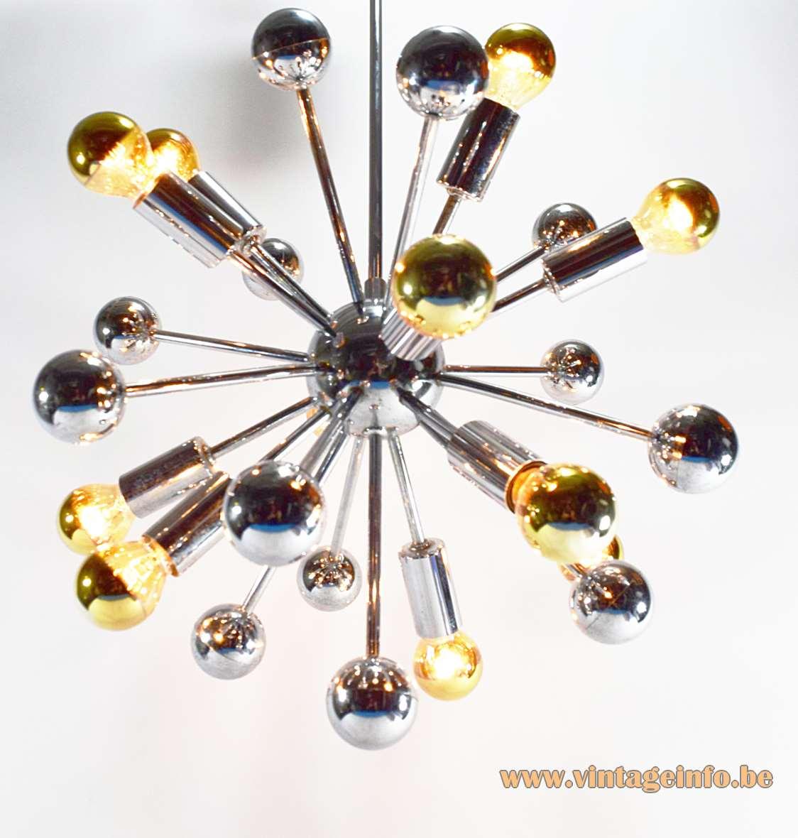 1960s Chrome Sputnik Chandelier