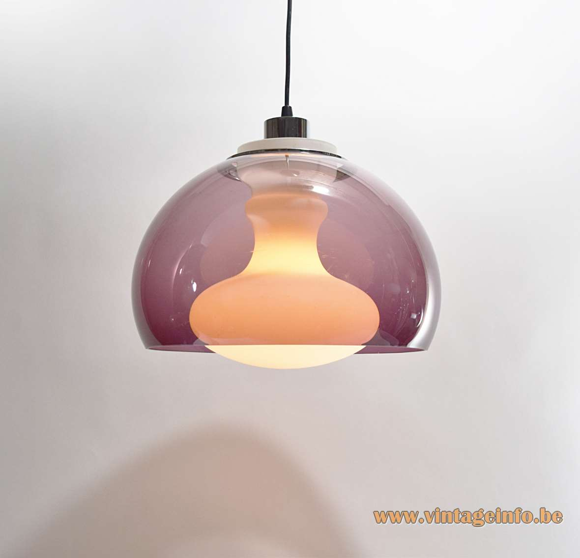 1970s Opal & Purple Pendant Light