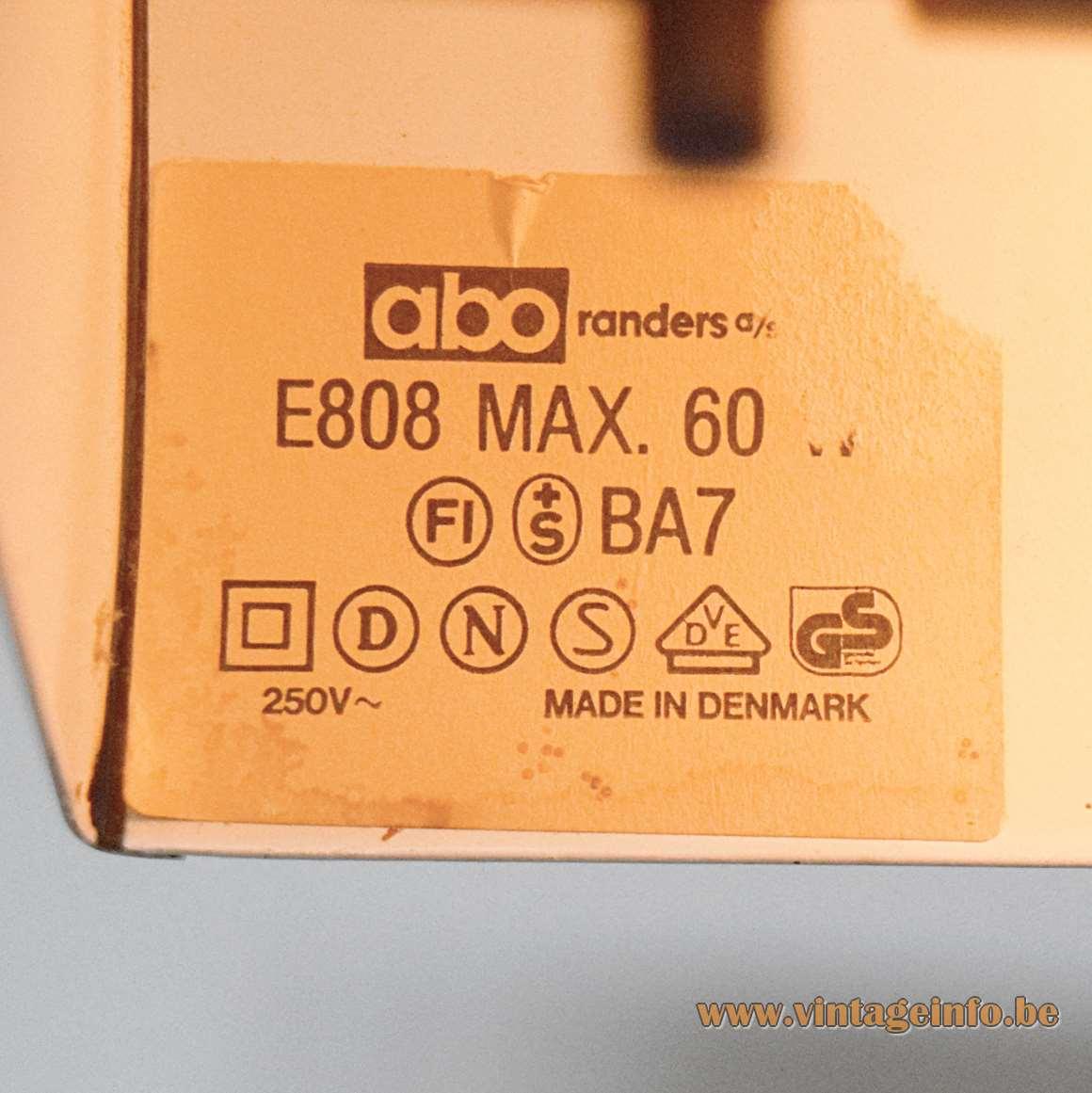 Abo Randers Floor Light - label