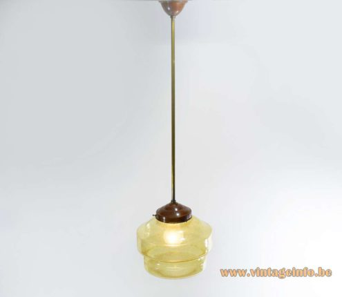Amber Bubble Glass Pendant Light