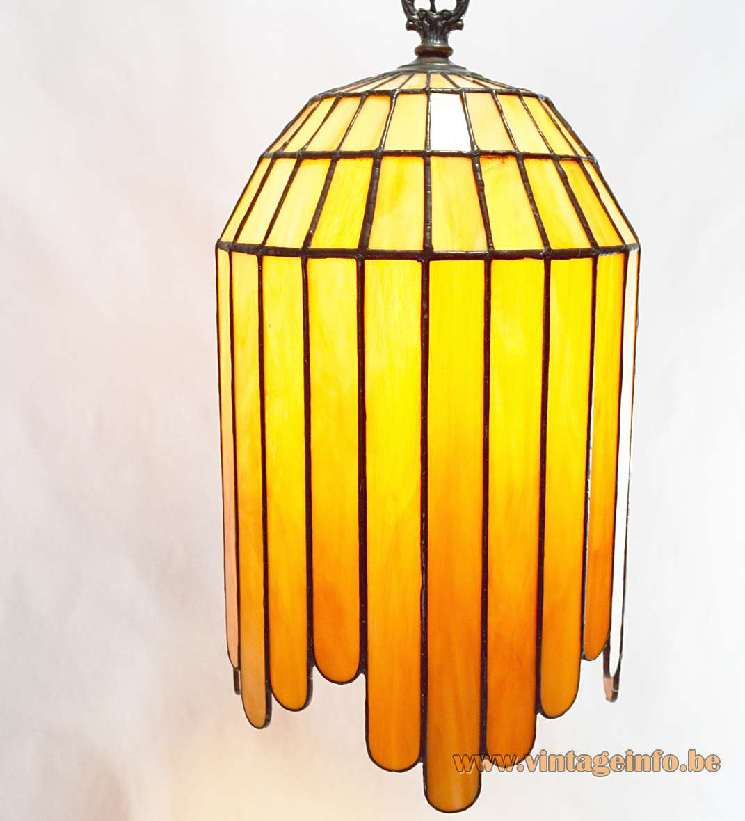Art Deco Stained Glass Pendant Lamp