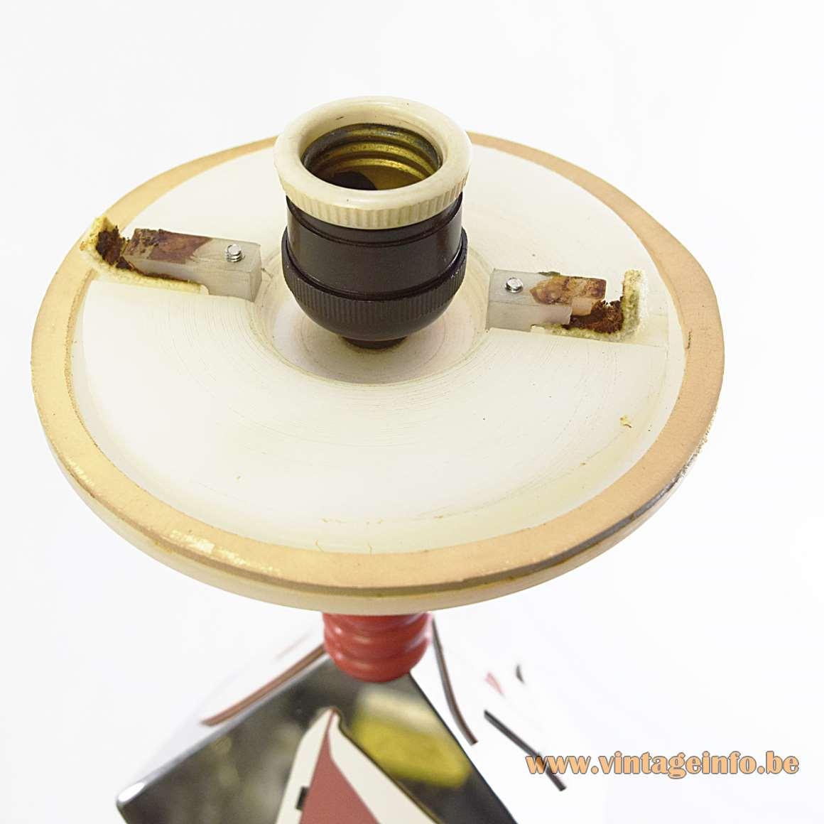 Diamond Cutting Early Retirement Table Lamp - socket