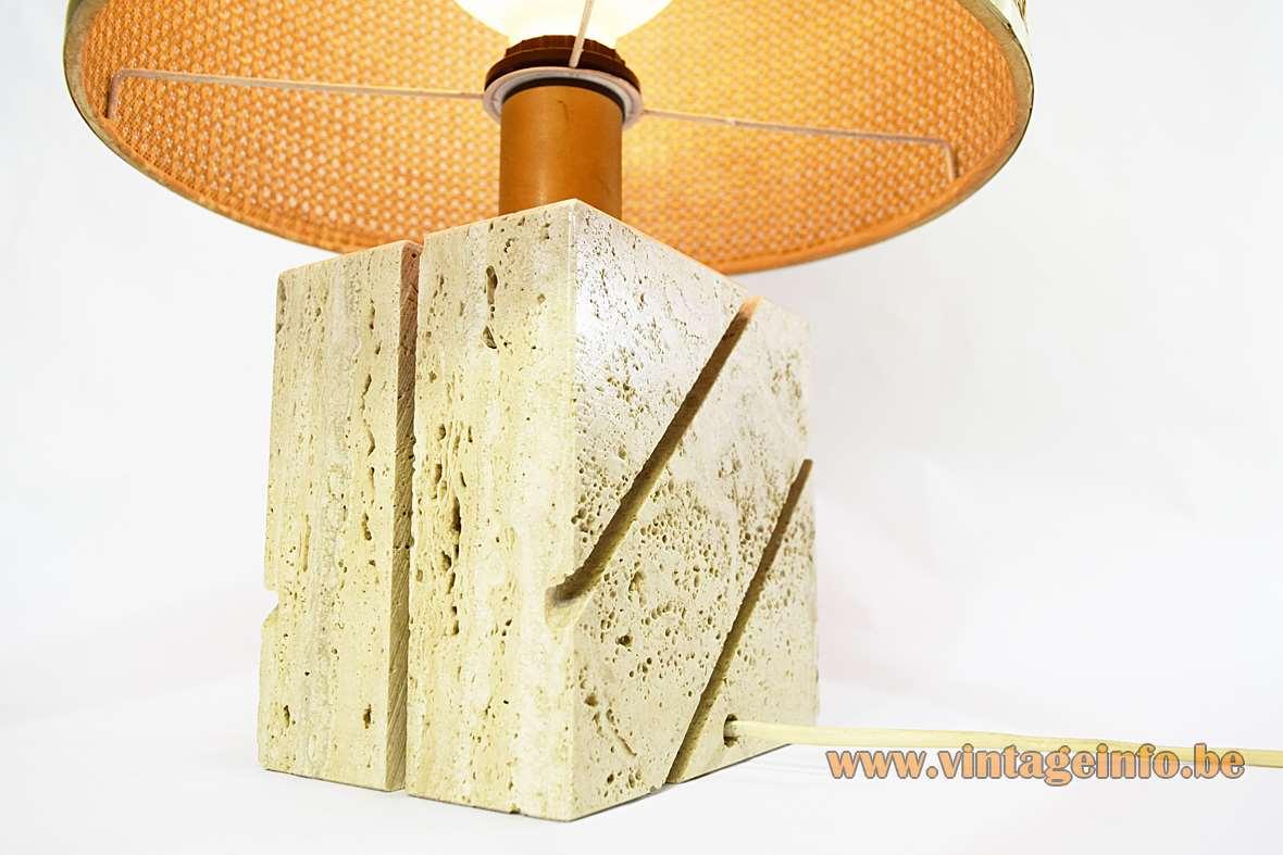 Fratelli Mannelli Travertine Table Lamp