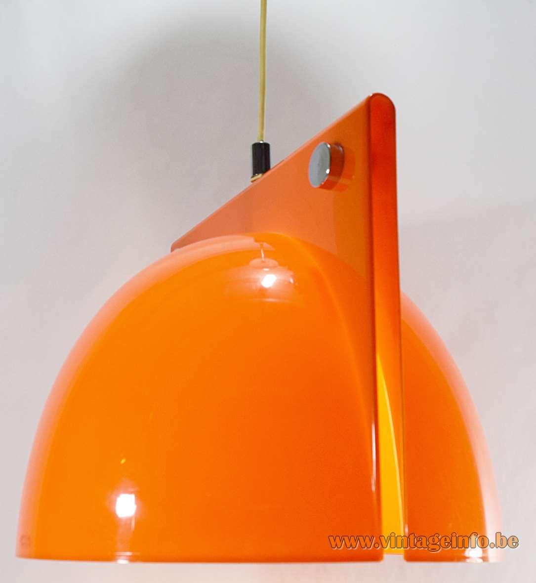 Harvey Guzzini Orione Pendant Lamp acrylic design Ermanno Lampa Sergio Brazzoli 1967 1970s 1960s iGuzzini