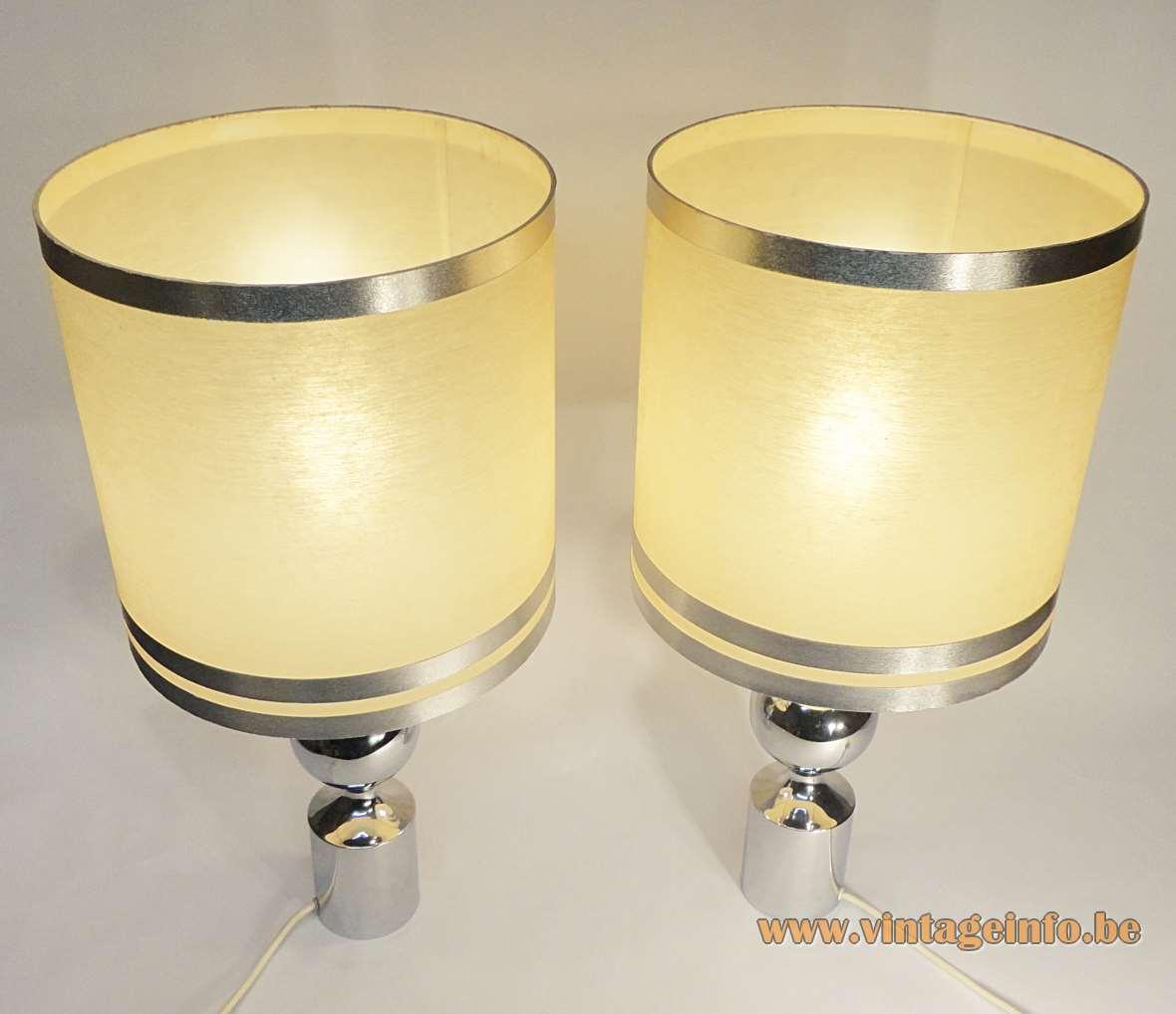 Hustadt-Leuchten Chrome Table Lamps