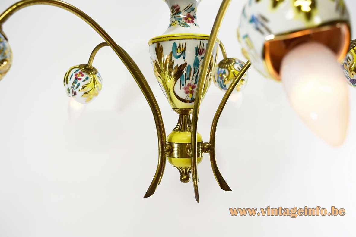 Italian Porcelain Chandelier