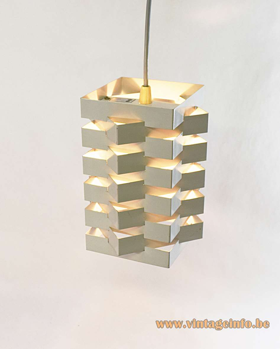 Nordisk Solar Pendant Lamp design: Niels Esmann & Hans C. Jensen 1960s metal Scandinavian