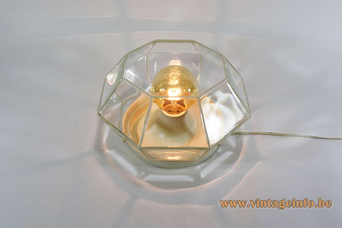 Octagon Crystal Glass Ceiling Lamp