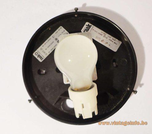 Raak Wall Lamp p-1412 - W-1890 - inside - labels