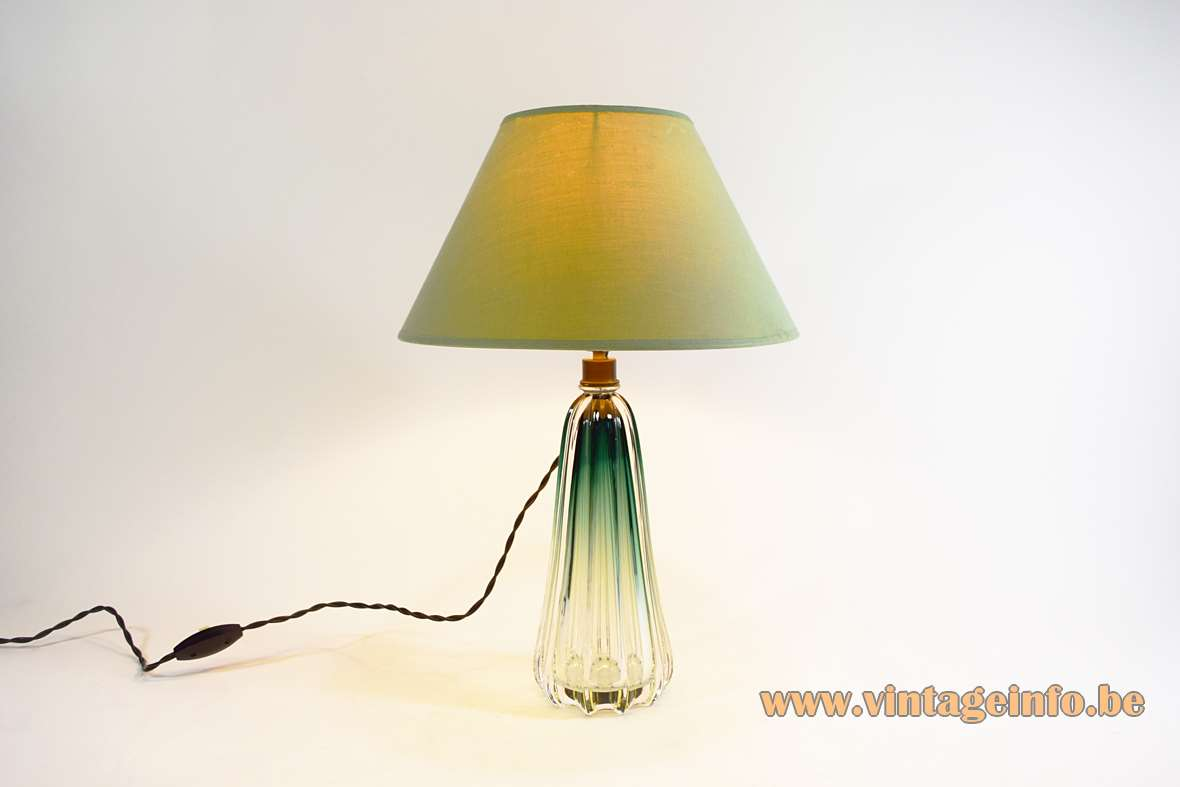 Val Saint Lambert Scintilla Table Lamp