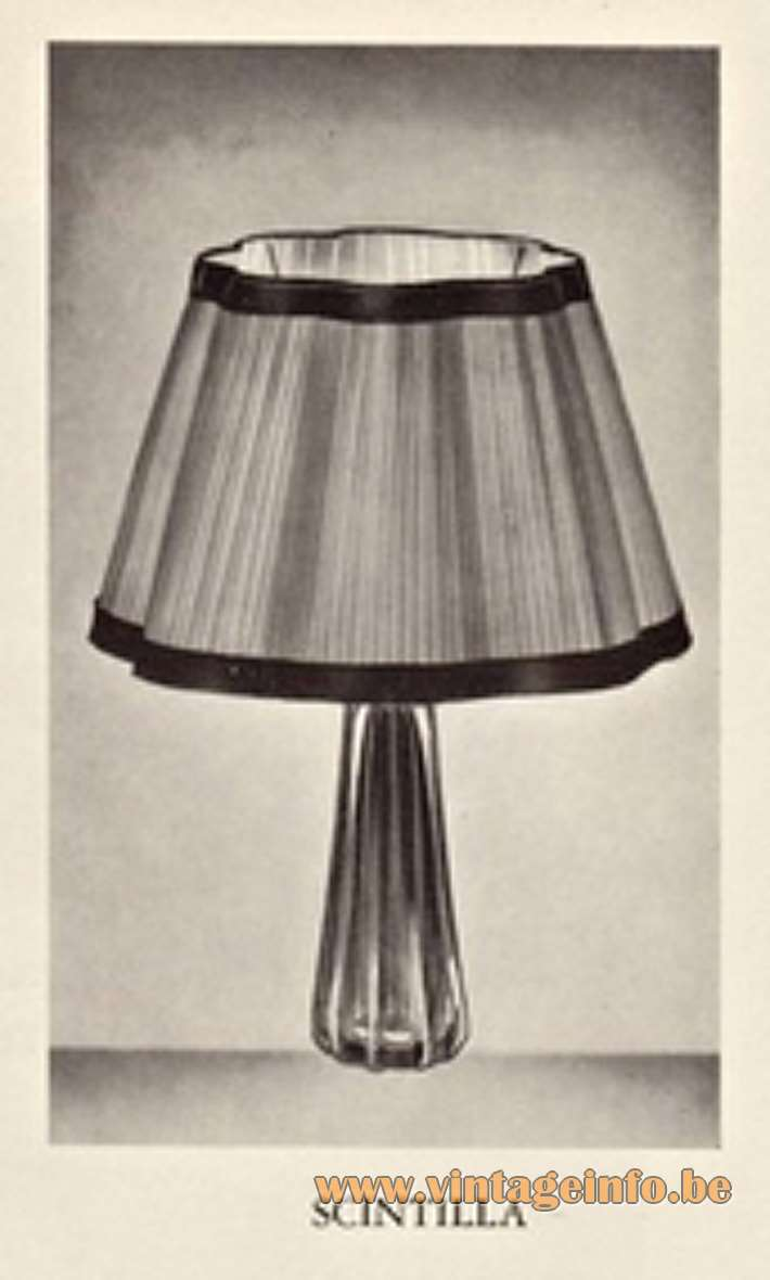 Val Saint Lambert Scintilla Table Lamp - Catalogue