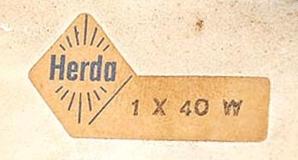 Herda Label - 1 x 40 Watt