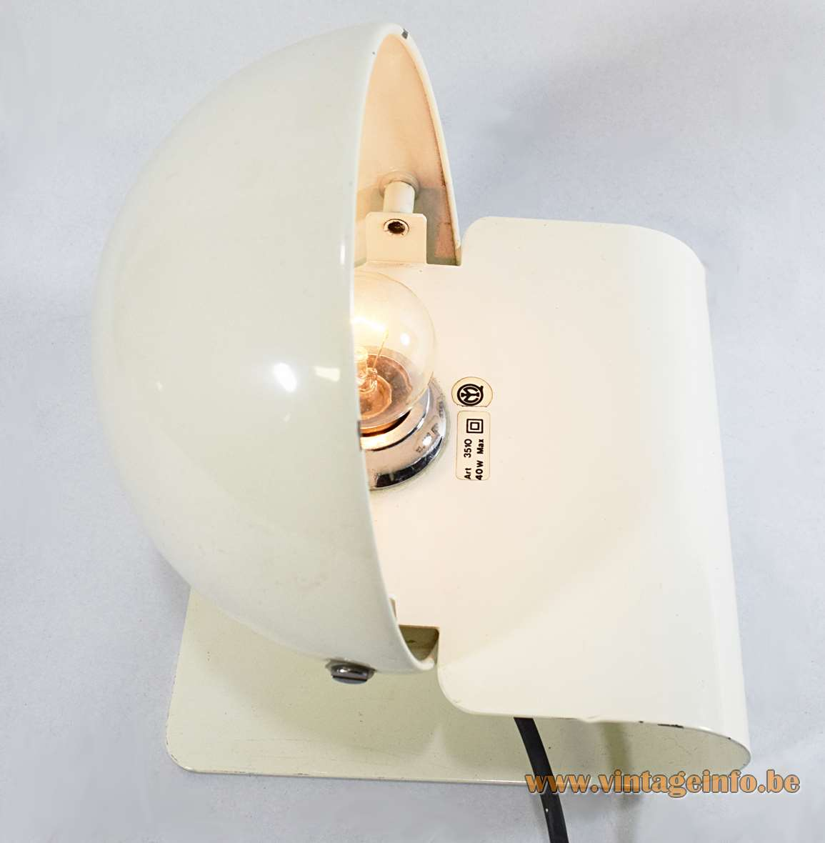 Iguzzini Bugia Table Or Wall Lamp Vintage Info All