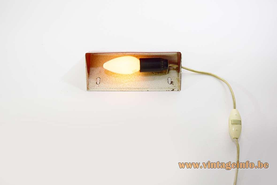 1960s Rectangular Wall Light