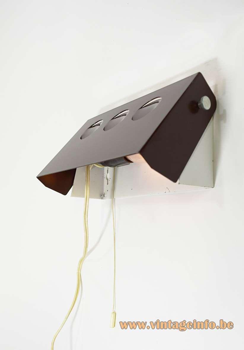 1960s Rectangular Wall Lamp