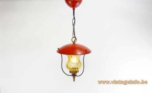 1970s Lantern Pendant Light