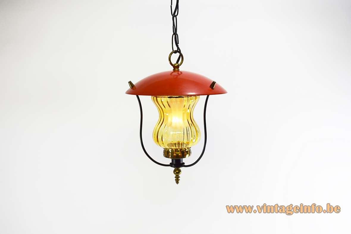 1970s Lantern Pendant Light