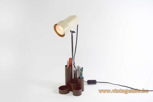 1970s Pen Tray Desk Light