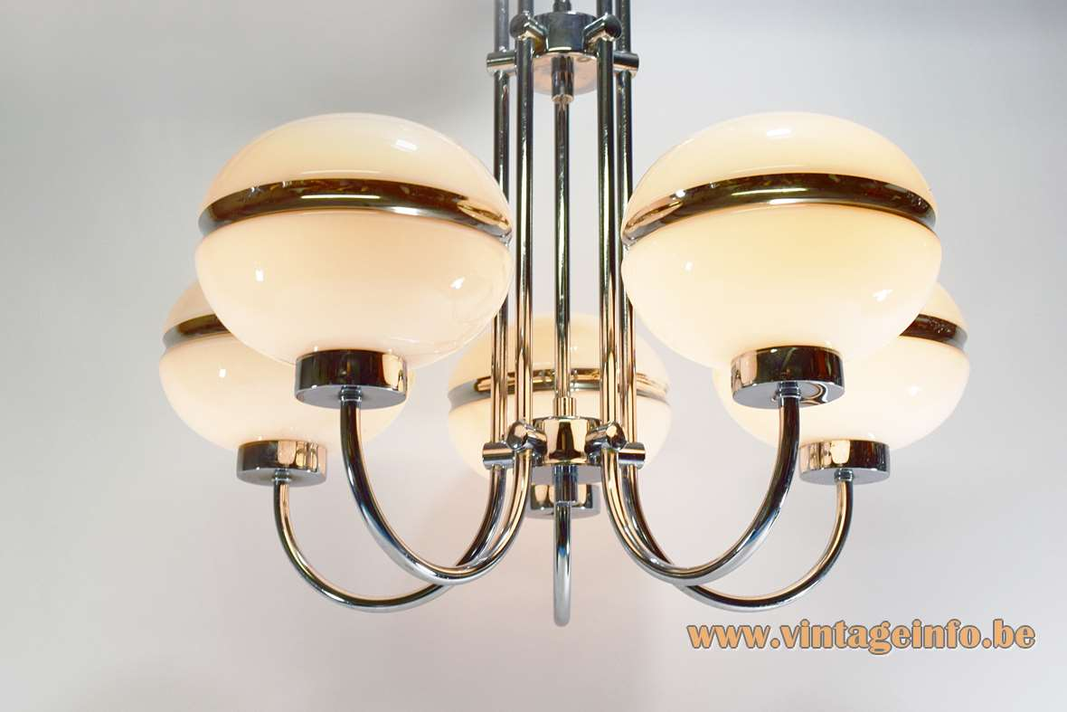 Chromed Glass Globes Chandelier Vintage Info All About