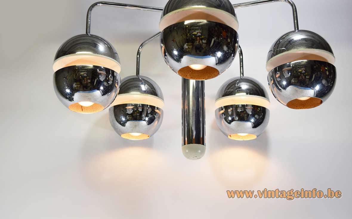Chromed Globes Chandelier